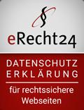 Siegel eRecht24 - Datenschutzerklärung
